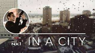 in a city